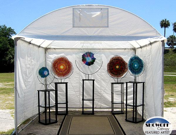 Dennis DeBon's EnergyWebs in his SHOWOFF Canopy
