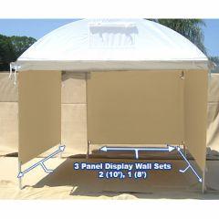(3) Display Panel Set - 2 (10') , 1 (8') Trim Line, Craft Hut, Light Dome Display Walls
