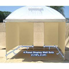 (4) Display Panel Set - 2 (10') , 2 (4') Trim Line, Craft Hut, Light Dome Display Walls