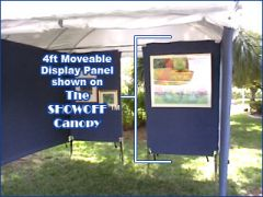 4 ft. Moveable Canvas Display Panel Wall For SHOWOFF